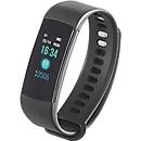 "Bluetooth Smartwatch ""Bracelet"", Android & iOS, multifunktional, Lasergravur optional, schwarz"