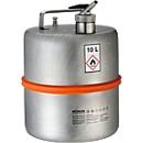 Brandveilige staande vaten, van rvs, Fijndosering en ventilatie, 10 l, ø 260 x H 350 mm