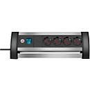brennenstuhl® stekkerdoos Alu-Office Line, 4-voudig