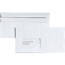 Briefumschläge, DIN lang, mit Fenster, selbstklebend, 100 Stück
