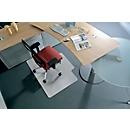 BSM bureaustoelmat vorm C, Voor harde vloeren, 1500 x 1200 mm