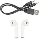BT-Wireless Kopfhörer Banana, schwarz, ABS/PU, PVC-Tasche, inkl. USB-Kabel, Werbefläche