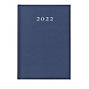 Buchkalender Vega, 360 Seiten, B 150 x T 210 x H 210 mm, Werbedruck, 100 x 80 mm, blau