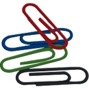 Büroklammern, 26 mm, farbig lackiert,  500 Stück