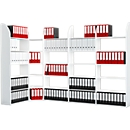 Büroregal Dante®, Regalfeld, H 2250 x B 1000 mm, ohne Rückwand, weiß