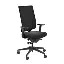Bürostuhl SSI Project OI 2530, ohne Armlehnen, Synchronmechanik, Muldensitz, Netzrücken, schwarz/schwarz