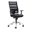 Bürostuhl SSI PROLINE Edition, Synchronmechanik, ohne Armlehnen, Netz-Rückenlehne, Bandscheibensitz