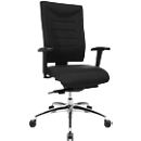 Bürostuhl SSI PROLINE P3+, Synchronmechanik, ohne Armlehnen, Lendenwirbelstütze, 3D-Sitzgelenk, schwarz