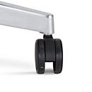 Bürostuhlrollen ESHH, für harte Böden, lastabhängig gebremst, Ø 65 mm, Kunststoff, schwarz, 5 Stück