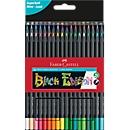 Buntstifte Faber-Castell Black Edition, schwarzes Holz, Dreikantform, farbsortiert, 36er Etui