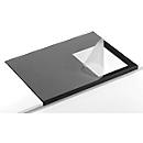 Bureau onderlegger, soepele pvc-folie, 650 x 520 mm, randbescherming, zwart