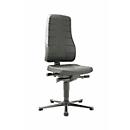 Bureaustoel All-in-One 9640, met glijders, bekleed met integraalschuim, zwart