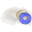 Cd/dvd-foliehoezen, transparant, geschikt voor verzending