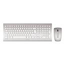 CHERRY DW 8000 - Tastatur-und-Maus-Set - Englisch (USA) mit EURO-Symbol - weiß, Silber