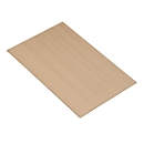 Chroomkleurige open kast Balton B III, houten bodem, beukenpatroon, B 655 x D 383 mm
