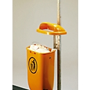 Complete aanbieding prullenbak/buis, oranje
