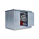 Container voor gevaarlijke stoffen SAFE Tank 1000 KTC, gegalvaniseerd, B 3050 x D 2170 x H 2310 mm, voor 2 x 1000 l IBC