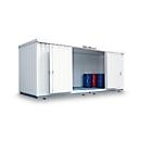 Container voor gevaarlijke stoffen SAFE Tank 1000 KTC, geïsoleerd, RAL 9002 grijswit, B 3050 x D 2170