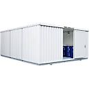 Container voor gevaarlijke stoffen SAFE Tank 3000, geïsoleerd, RAL 9002 grijswit, B 3050 x D 6520 x H 2520 mm
