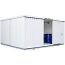 Container voor gevaarlijke stoffen SAFE Tank 4000, geïsoleerd, RAL 9002 grijswit, B 5080 x D 4340 x H 2520 mm