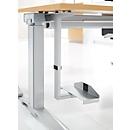 CPU-houders voor Bureautafels PLANOVA ERGOSTYLE, in breedte- en hoogte verstelb., staal gepoedercoat, blank aluminium