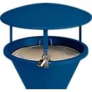 Dak voor staande asbak, gentiaanblauw