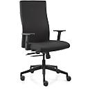 Dauphin Bürostuhl STRIKE plus comfort, mit Armlehnen, Synchronmechanik, Flachsitz, schwarz/schwarz