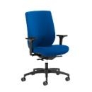 Dauphin bureaustoel SHAPE 29675, synchroonmechanisme, met armleuningen, lordosesteun, blauw