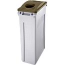 Deckel für Flaschen und Dosen, für Abfallbehälter Slim Jim®, braun
