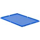 Deckel, für Kasten im EURO-Maß, ohne Haken, blau