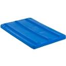 Deckel für Rechteckbehälter, Kunststoff, 135 l, blau
