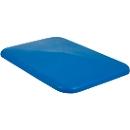 Deckel für Rechteckbehälter, Kunststoff, 340 l, blau