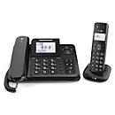 DECT Kombitelefon Doro Comfort 4005, schnurlos & schnurgebunden nutzbar, mit Anrufbeantworter & Display, schwarz