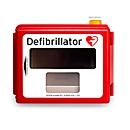 Defibrillator Hartschalen-Wandkasten, akustischer und optischer Alarm, mit Heizung
