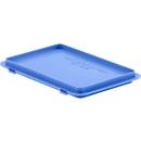 Deksel met klemmen EF-D 32 H voor bakken in Euronorm, blauw