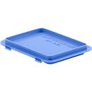 Deksel met klemmen EF-DH 21 voor bakken in Euronorm, blauw