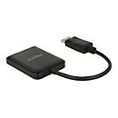 DeLock Displayport 1.2 Splitter 1 x Displayport in > 2 x HDMI out 4K 30 Hz - Video-/Audio-Splitter - 2 Anschlüsse