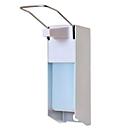 Desinfektionsspender D+ SMART Fill, mit Armhebel, Wand-/Säulenmontage, inkl. 1000 ml Leerflasche, Aluminium & Edelstahl