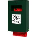 Dispenser voor hondenpoepzakjes afsluitbaar incl. binnenwerk uitgifte zakjes, mosgroen
