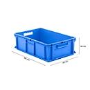 Doos in EURO-maat EF 6180, 35,4 l, blauw