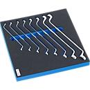 Doppelringschlüsselsatz mit Hartschaumeinlage, 8-tlg., für Schrankserie FS5, Maße 299 x 567 mm