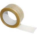 Draadversterkt pvc-tape, transparant, 6 rollen