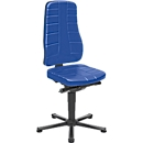 Drehstuhl All-in-One 9640, mit Gleiter, Kunstlederpolster, blau