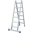 Dubbele ladder met scharnieren, 2 x 6 sporten