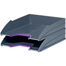 DURABLE Ablagekorb VARICOLOR, DIN C4, Kunststoff, 2 Stück, lila