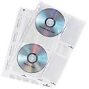 DURABLE cd/dvd-hoes A4, voor 4 cd's/dvd's,