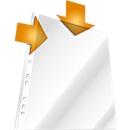 DURABLE insteekhoesjes, A4, bovenaan en aan perforatierand open, 100 stuks, generfd, transparant