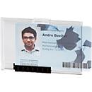Durable Kartenhalter Pushbox Mono, für 1 Karte, praktische Schieberfunktion, 10 Stück