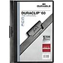 DURABLE Klemmmappen DURACLIP, DIN A4, Kunststoff, mit Clip, schwarz