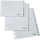 DURABLE kunststof indexbladen, A4 staand, cijfers 1-5, grijs